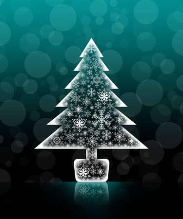 Christmas tree isolated background photo