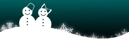 snowman with snowflake background photo