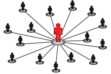 e recruitment: business center network connection