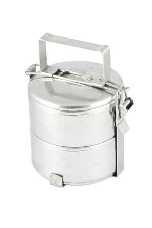 old metal food carrier Stock Photo