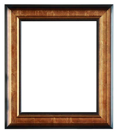 wooden photo frame isolated on white photo
