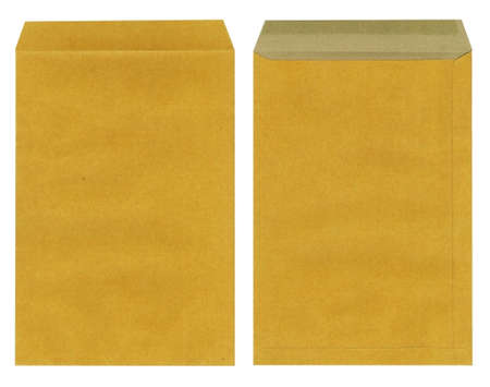 brown envelope isolated on white