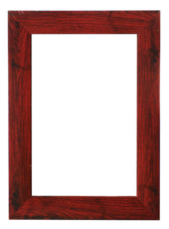 wooden frame isolated on white Stock Photo