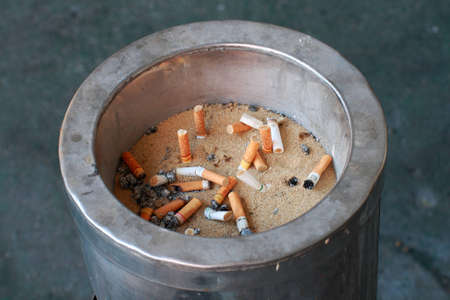 fag: The metal sand ashtray