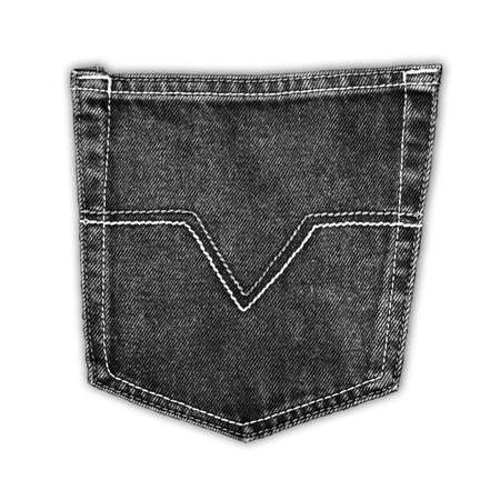 The black fabric jean pocket photo