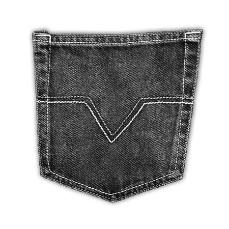 The black fabric jean pocket photo