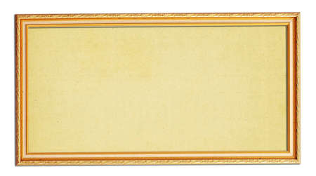 The wooden photo frame isolated on white photo