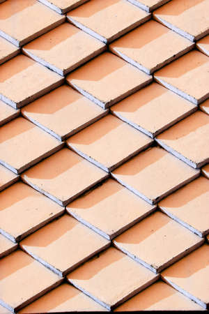 The blue roof tile background photo