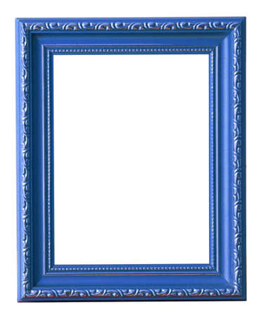 The blue photo frame isolated on white