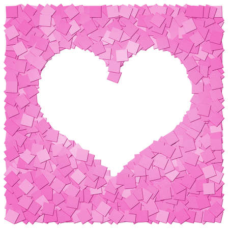 The pink heart frame canvas background Stock Photo
