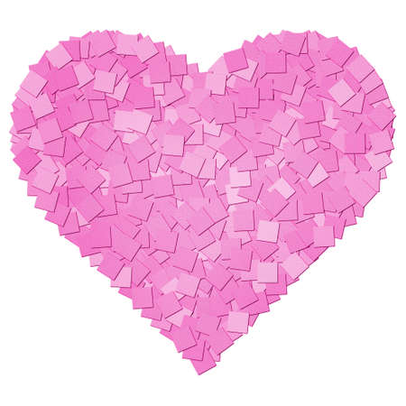 The pink canvas texture heart shape