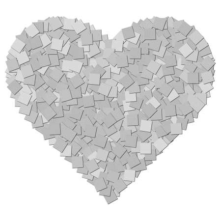 The black and white canvas texture heart shape