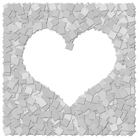 THe heart frame canvas background