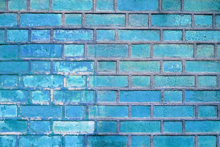 The blue abstract stone wall background