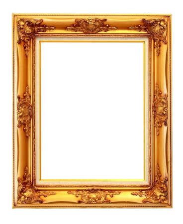 The vintage photo frame isolated on white photo