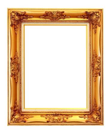 The vintage photo frame isolated on white Stock Photo - 13436382