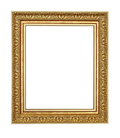 The old style wood frame isolated Stock Photo - 13436358