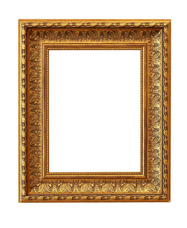 The picture frame isolated on white Stock Photo - 13436387