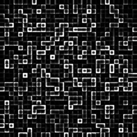 The black and white abstract square background Stock Photo