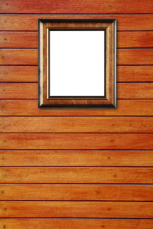 The wood frame on wooden background Stock Photo