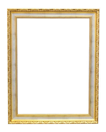 The old frame isolated on white photo