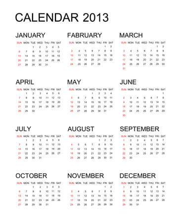 The 2013 year calendar background Stock Photo - 16440132