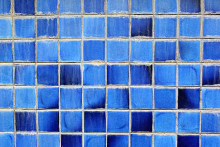 The abstract old blue square background photo