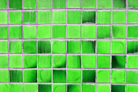 The abstract old green square background photo