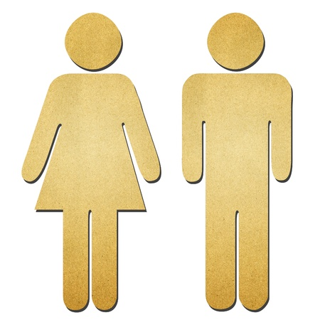 The man and woman symbol recycle paper Stock Photo