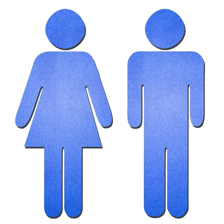 The blue man and woman symbol photo