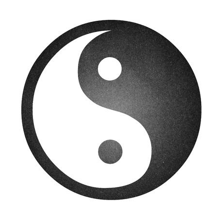 yin yang: El papel de arte yin yang aislado en blanco