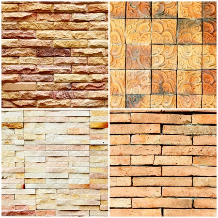 The stone brick wall background photo