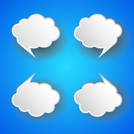 The abstract cloud bubble tag Vector