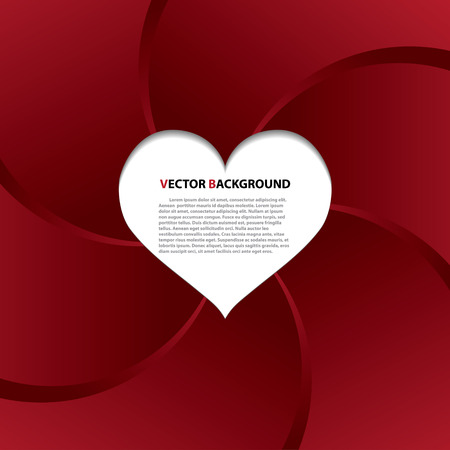 The vector abstract red heart background Vector