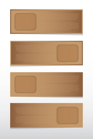 The infographic vector paper tag for design work