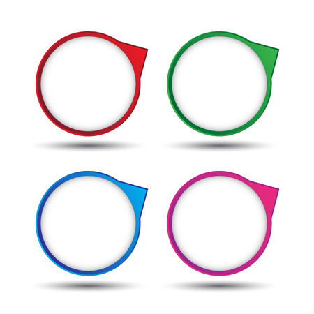 The colorful circle bubble tag for creative work