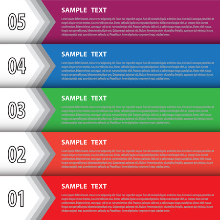The infographic template for creative work Illustration