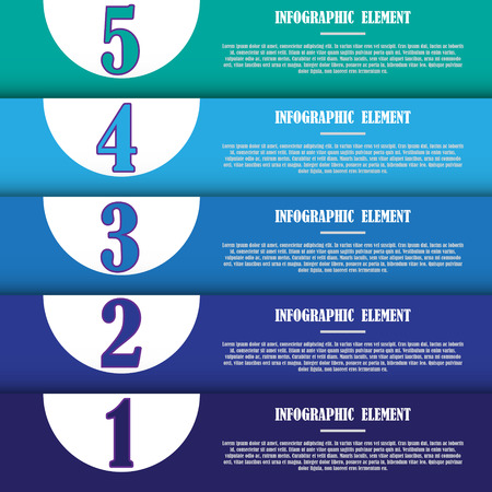 The modern infographic template for design and creative work Vector