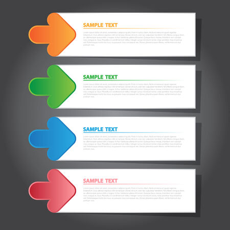index card: The Vector Illustration Modern Banner for Design and Creative Work