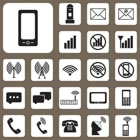 The Vector Illustration, Set of Communication Icon for Design and Creative Work Vector