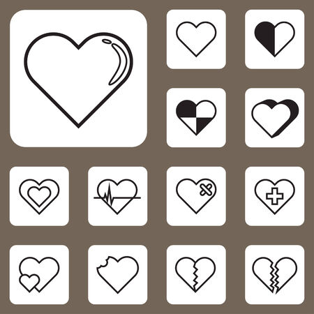 The Vector Illustration, Heart Love Icon for Design and Creative Work Vector