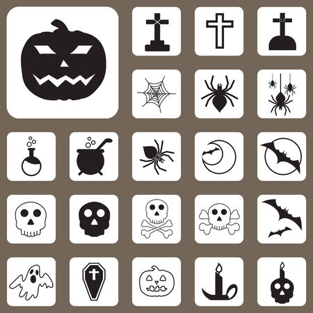 The Vector Illustration, Halloween Icon for Design and Creative Work Vector