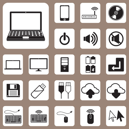 The Vector Illustration, Computer and Device Icon for Design and Creative Work Vector