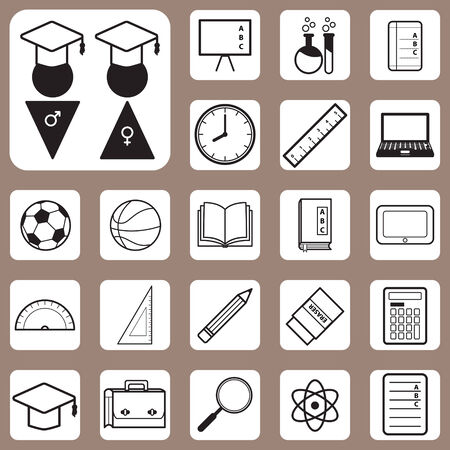 The Vector Illustration,Back to School Icon for Design and Creative Work Vector