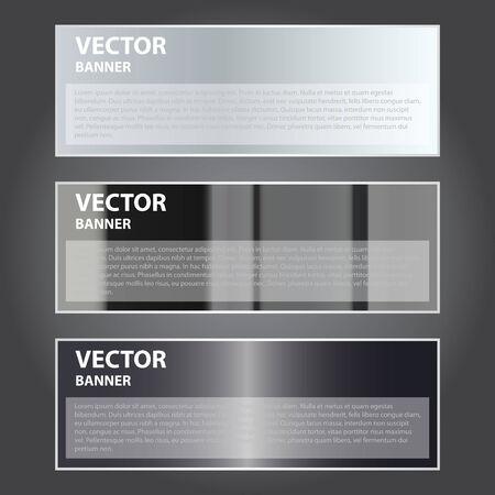 metalic design: The Vector Illustration, Metal Banner for Design and Creative Work Illustration