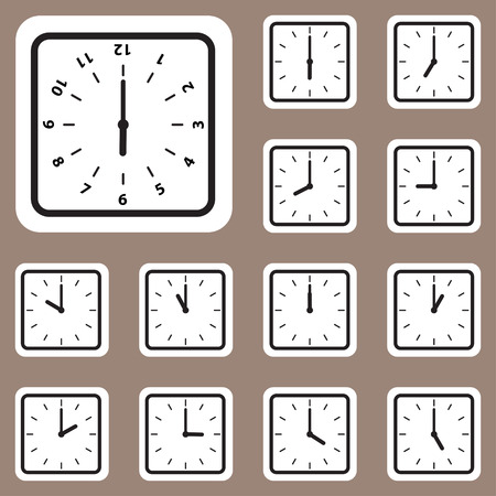 The Vector Illustration, Clock Icon for Creative and Design Work Illustration