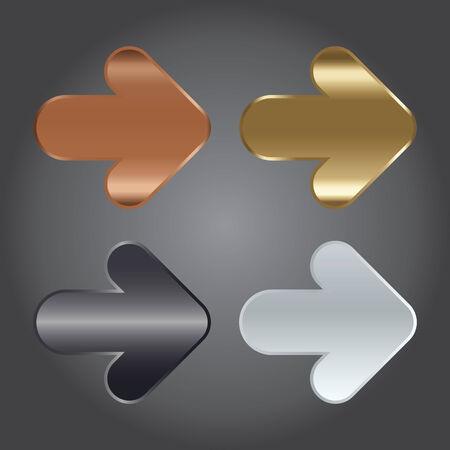 illustration metal: The Vector Illustration, Metal Arrow Symbol for Design Work