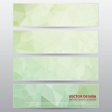 The Abstract Banner for Design and Creative Work, Vector Illustration Vector
