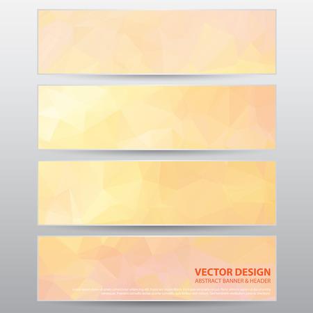 The Abstract Modern Banner for Design Work, Vector Illustration Vector