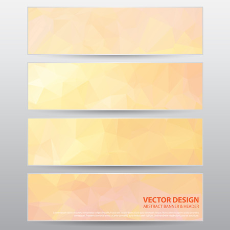 The Abstract Modern Banner for Design Work, Vector Illustration